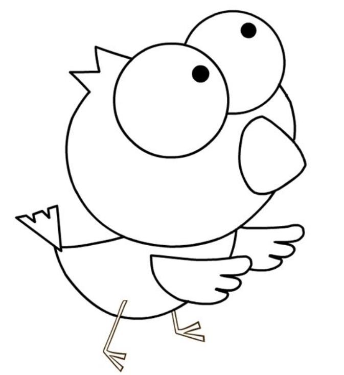幼儿园动物简笔画:鸟儿