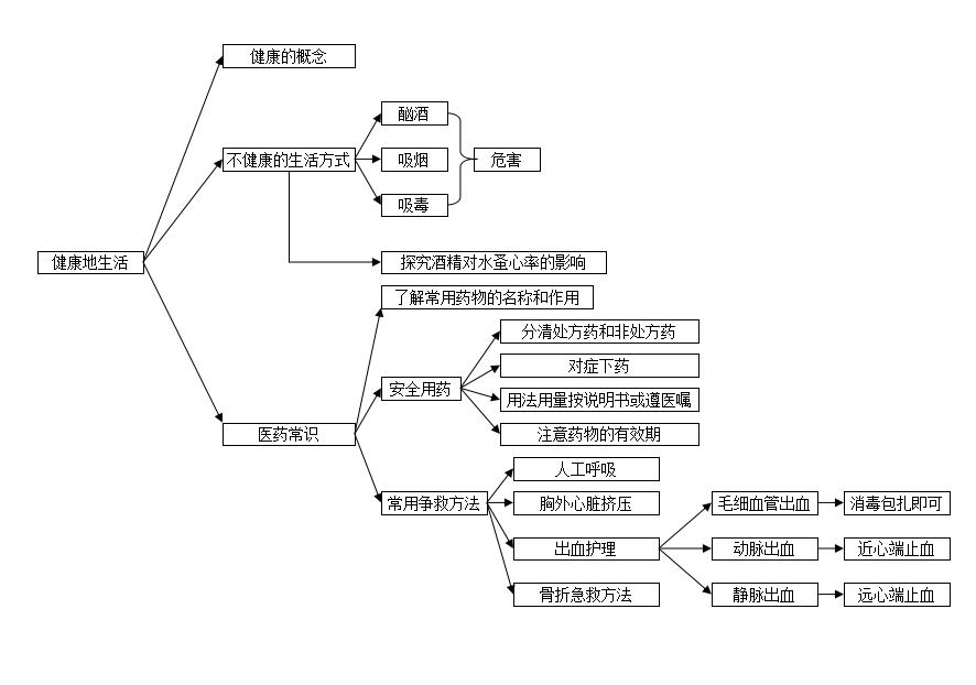 初中生物思维导图:健康的生活专题(2)