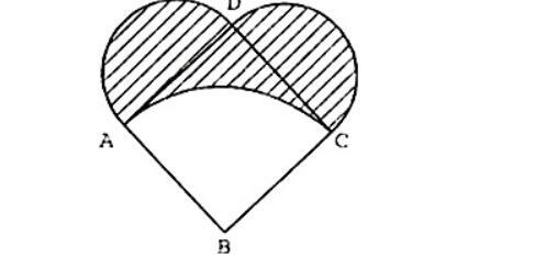 六年级圆与扇形例题:阴影周长与面积