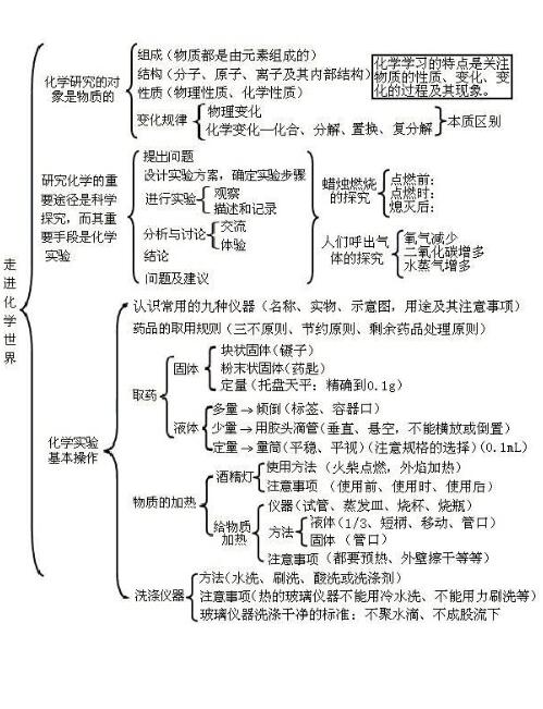 世纪中考知识点总结_初三化学中考知识点金榜初中编委会化学图片