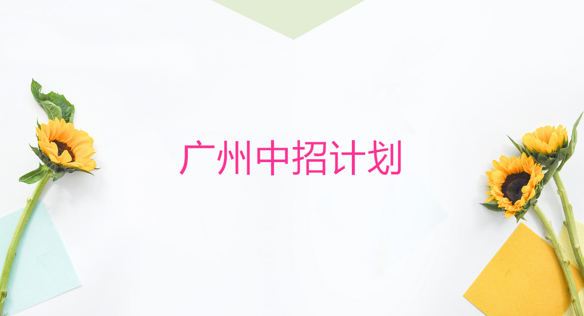 广州中招计划