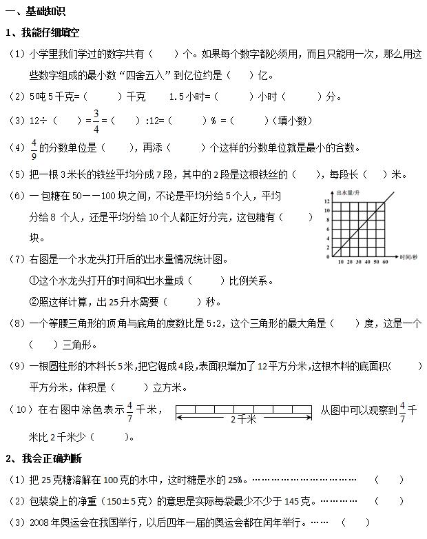 2017小升初数学模拟