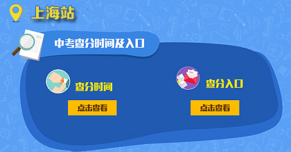 2017上海中考查分时间及入口
