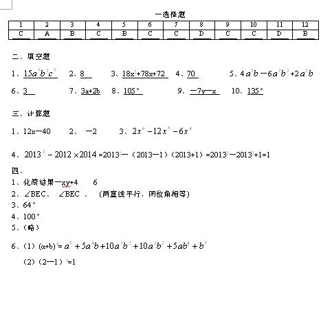 2017甘肃酒泉敦煌七年级下期中数学试题答案1