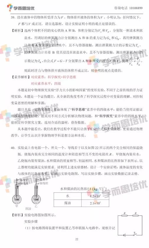 2017年北京中考物理真题答案解析图22