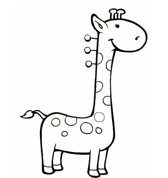 幼儿卡通画 长颈鹿