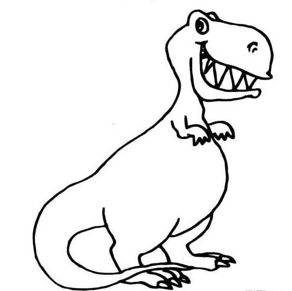 幼儿卡通画 恐龙 2