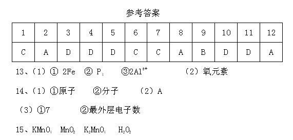2017广东潮州饶平城西实验中学初三下化学测试试题答案1