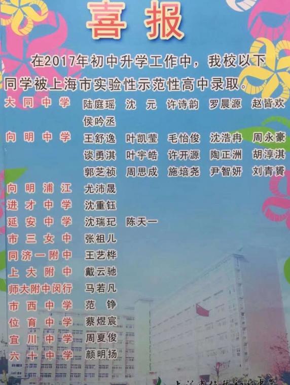 格致初级中学2017年中考资讯_中考初中_上海萝图喜报莉绑被憋尿图片