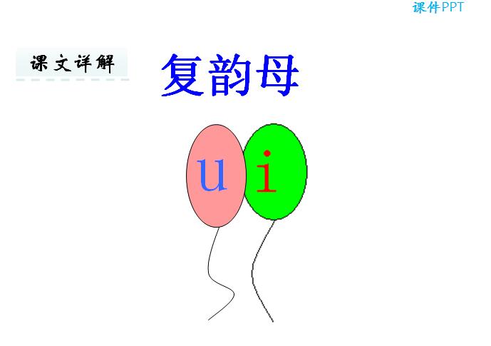 鄂教版一年级上册语文课件拼音《ai ei ui》2