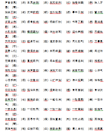 2018青岛小升初语文成语错别字汇总7