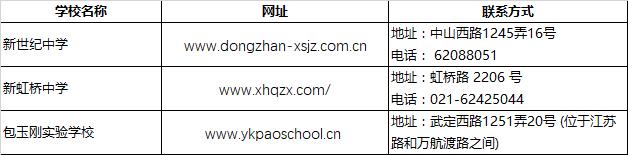 2018上海小升初择校长宁区民办初中联系方式