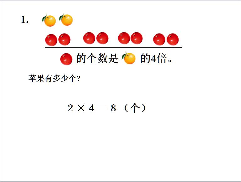 苏教版三年级上册数学课件《求一个数的几倍是多少2》