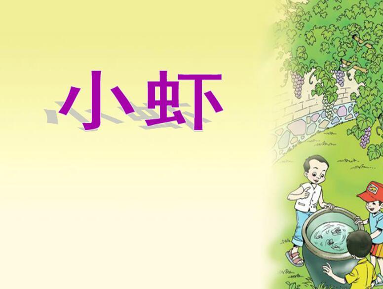 北师大版三年级下册语文课件《小虾》