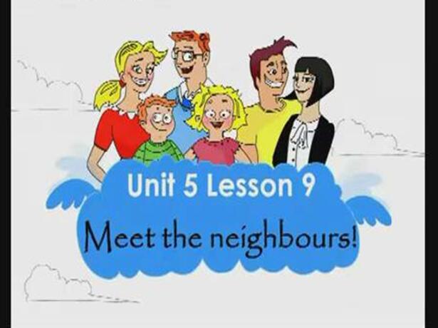 新概念版小学一年级上册英语课件:《Unit 5  Meet the neighbours! 4》