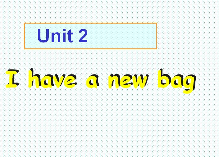 广州版小学一年级上册英语课件:《Unit2 I have a new bag 4》
