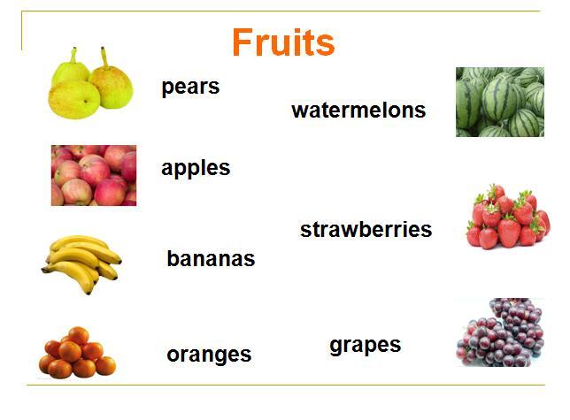 深港朗年级文版一年级小学英语课件:《fruit》(编课外七上册部上期古诗词课件图片