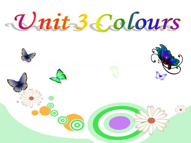新蕾快乐英语版小学一年级上册英语课件:《Unit 3 Colours》