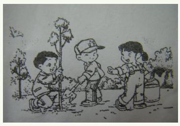 小学一年级看图作文范文:《看图写话4》