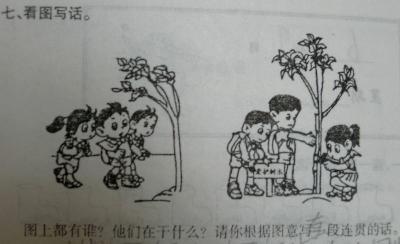 小学二年级看图作文范文:《爱护树木》