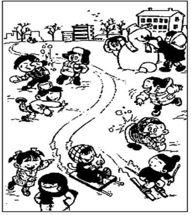 小学三年级看图作文范文:《冬天来了》