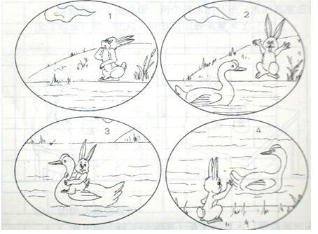 小学三年级看图作文范文:《过河》