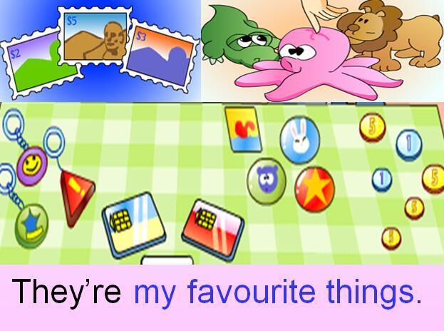 深港朗文版小学三年级上册英语课件:《My favourite things -Unit 3 PartA》