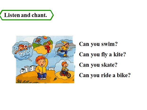 外研版版背心四年级教案英语课件:《CanSam我会穿上册啦小学图片