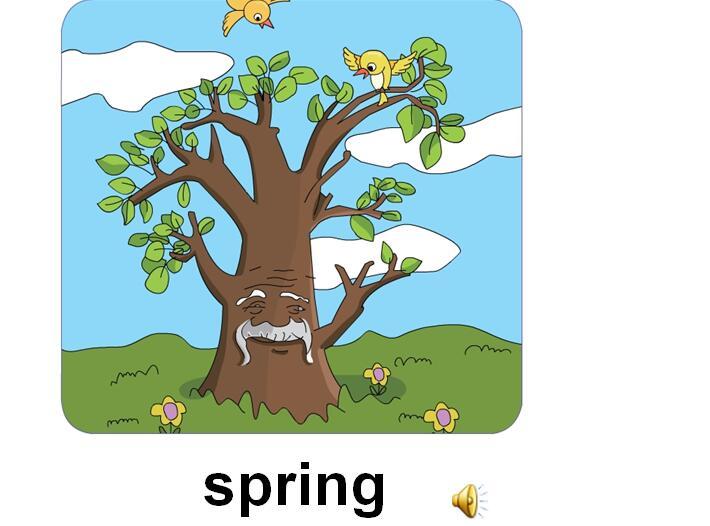 四年级上册�y���.i_鲁科版小学四年级上册英语课件:《it\'s spring》(3)