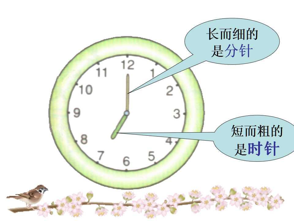 西师大版一年级下册数学课件《认识钟表2》(3)