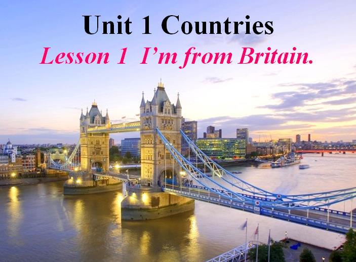 鲁科版小学四年级下册英语课件:《I'm from Britain》1