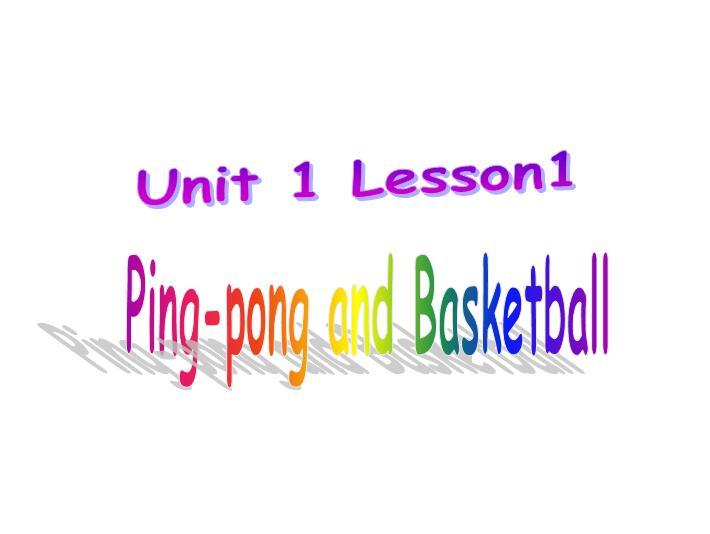 冀教版小学六年级下册英语课件:《Ping-pong and Basketball》4