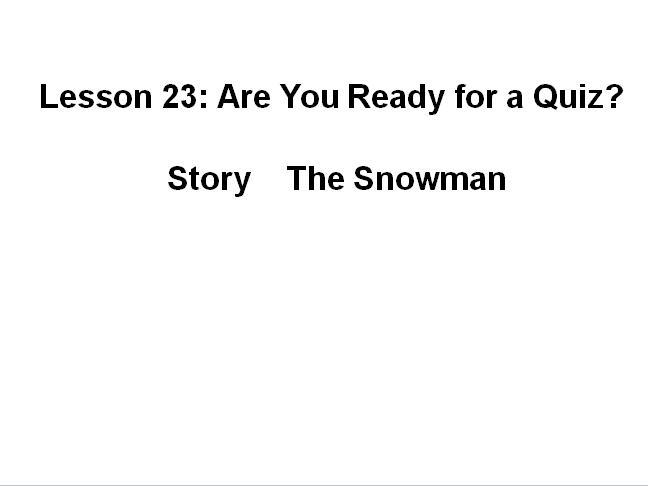 冀教版小学六年级下册英语课件:《Are you ready for a quiz》