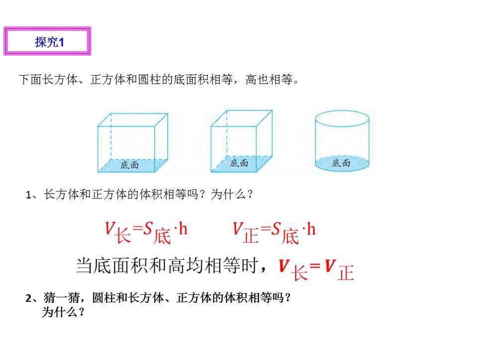 苏教版六年级下册数学课件《圆柱的体积1》(3)