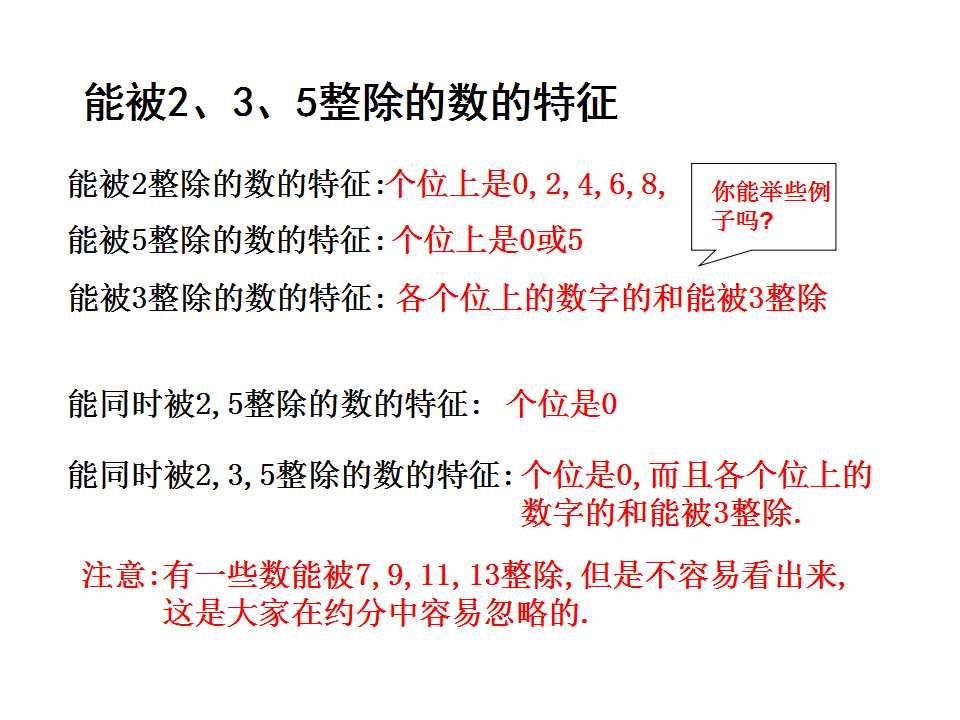 苏教版六年级下册数学课件《因数和倍数》(3)