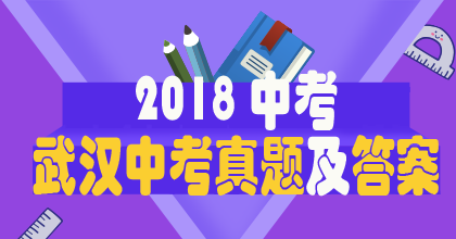 2018年武�h中考真�}�n}策��