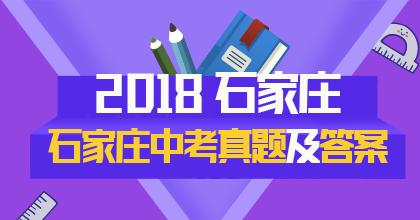 2018年石家庄中考真题专题策划