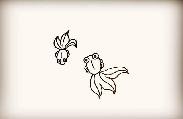 儿童简笔画小金鱼绘画教程 金鱼 6