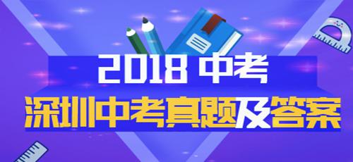 2018年深圳中考真题专题策划