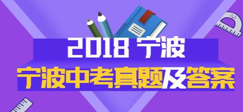 2018年宁波中考真题专题策划