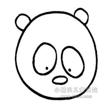 幼儿简笔画步骤图 可爱的熊猫