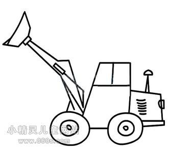 幼儿简笔画步骤图 铲车