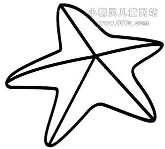 幼儿简笔画步骤图 海星