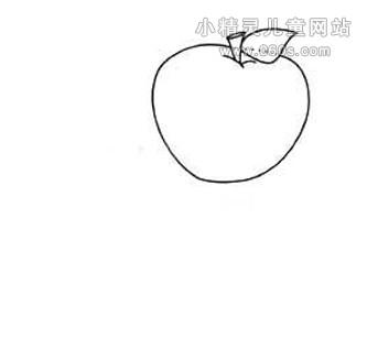 幼儿简笔画步骤图——苹果