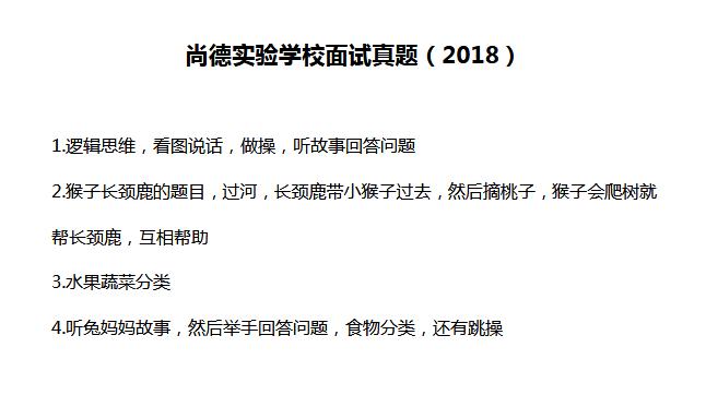 上海市浦东新区上的实验学校2018年面试真题