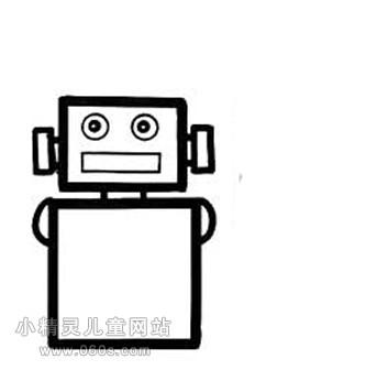 幼儿园简笔画教案 方头机器人 2