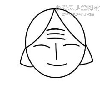 幼儿园简笔画教案 老奶奶的头像