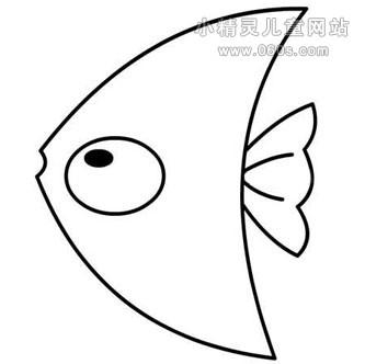 幼儿园简笔画教案:三角鱼