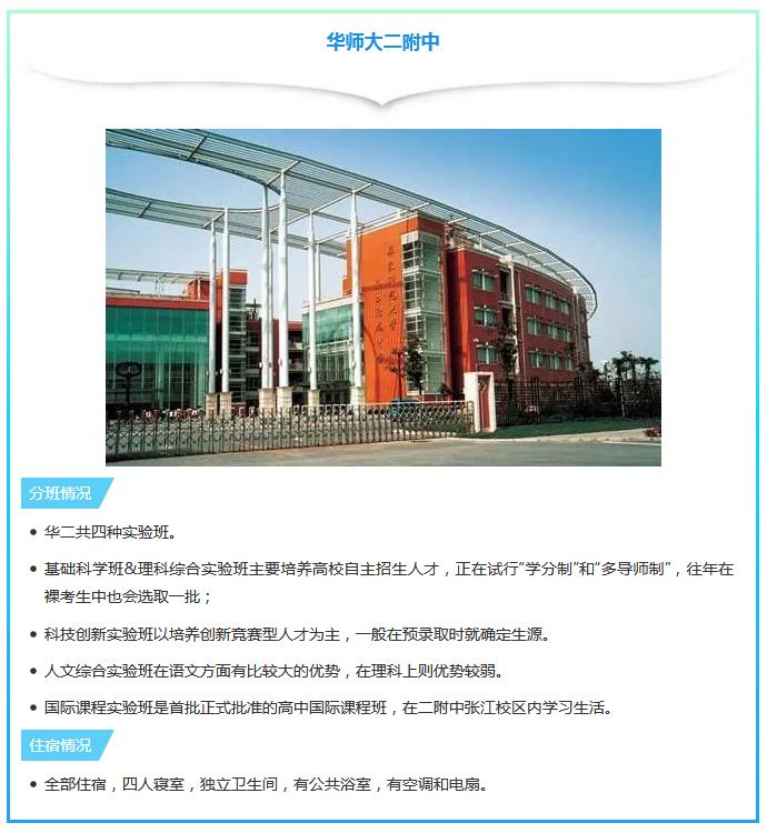 2019年定州高中有高班及住宿特色之华师大二哪些上海情况中都图片