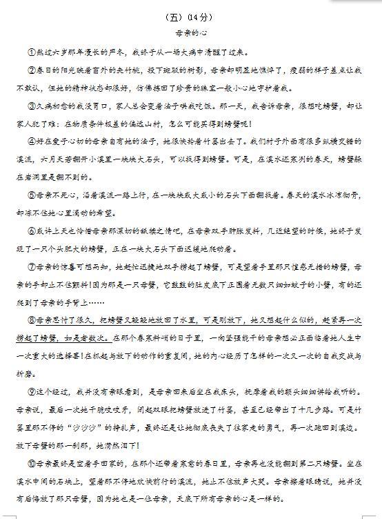 2019无锡江苏玉祁七年级上10眼神月月文作文高中考语试题图片